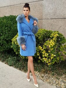 cashmere coat with fur