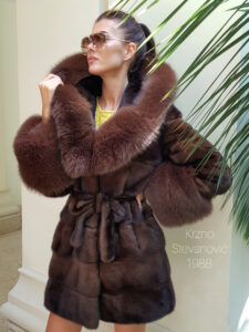 mink coat with hood
